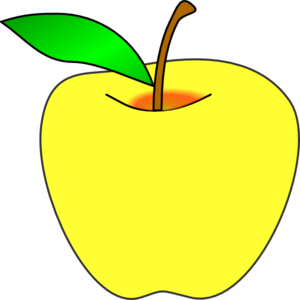 Yellow Apple Clipart | Clipart Panda - Free Clipart Images Green Apple Outline Clip Art