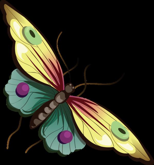 Yellow Cartoon Butterfly