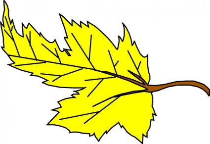 Yellow Leaf clip art | Clipart Panda - Free Clipart Images