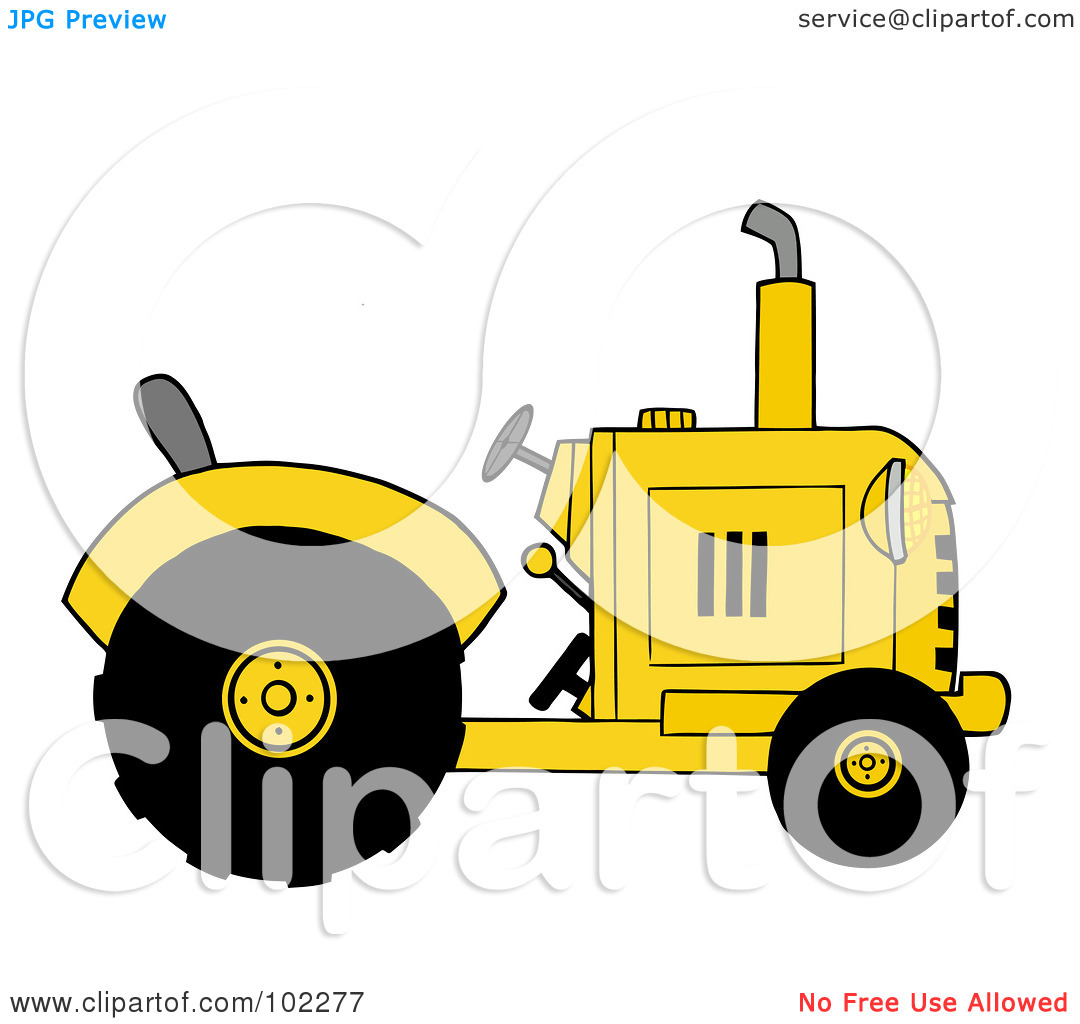 Yellow Tractor Clip Art : Yellow tractor clipart panda free images