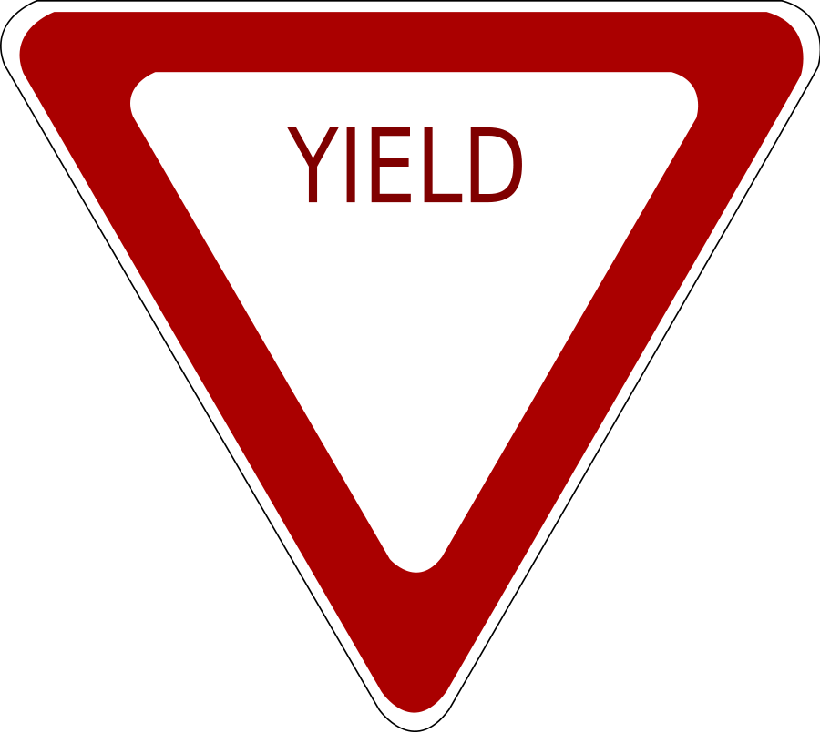 yield road sign clipart clipart panda free clipart images