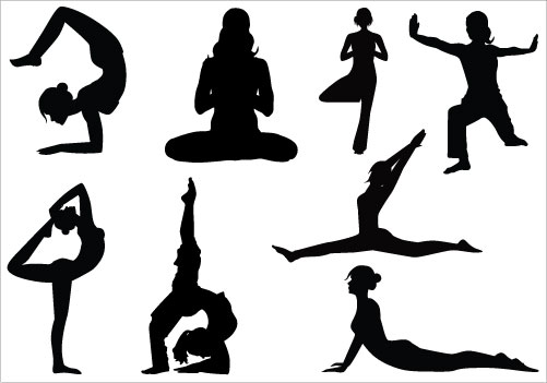 Line Drawing Yoga Pose : Yoga clipart panda free images