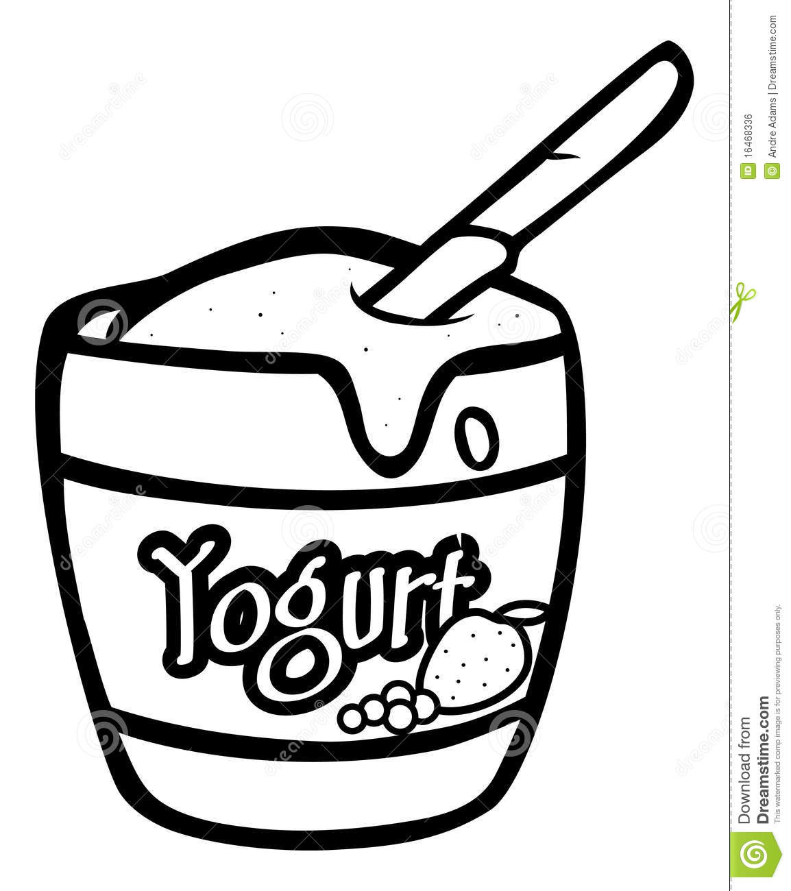 Yogurt Line Drawing : Yogurt clipart black and white panda free