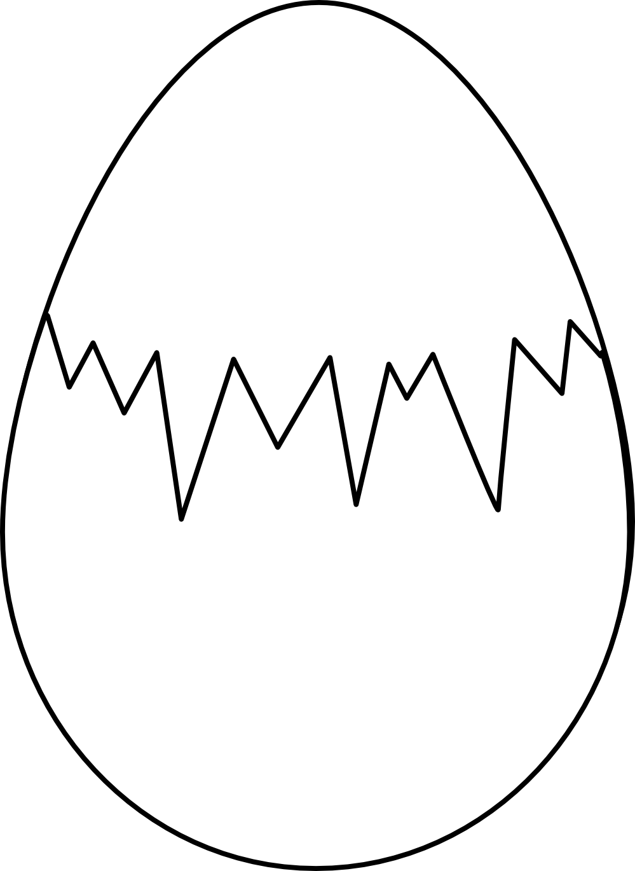 Yolk black and white clipart
