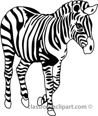 Zebra Clip Art Black And White | Clipart Panda - Free ...