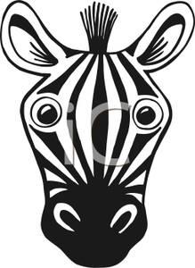 Zebra Head Outline Zebra Clipart Black An...