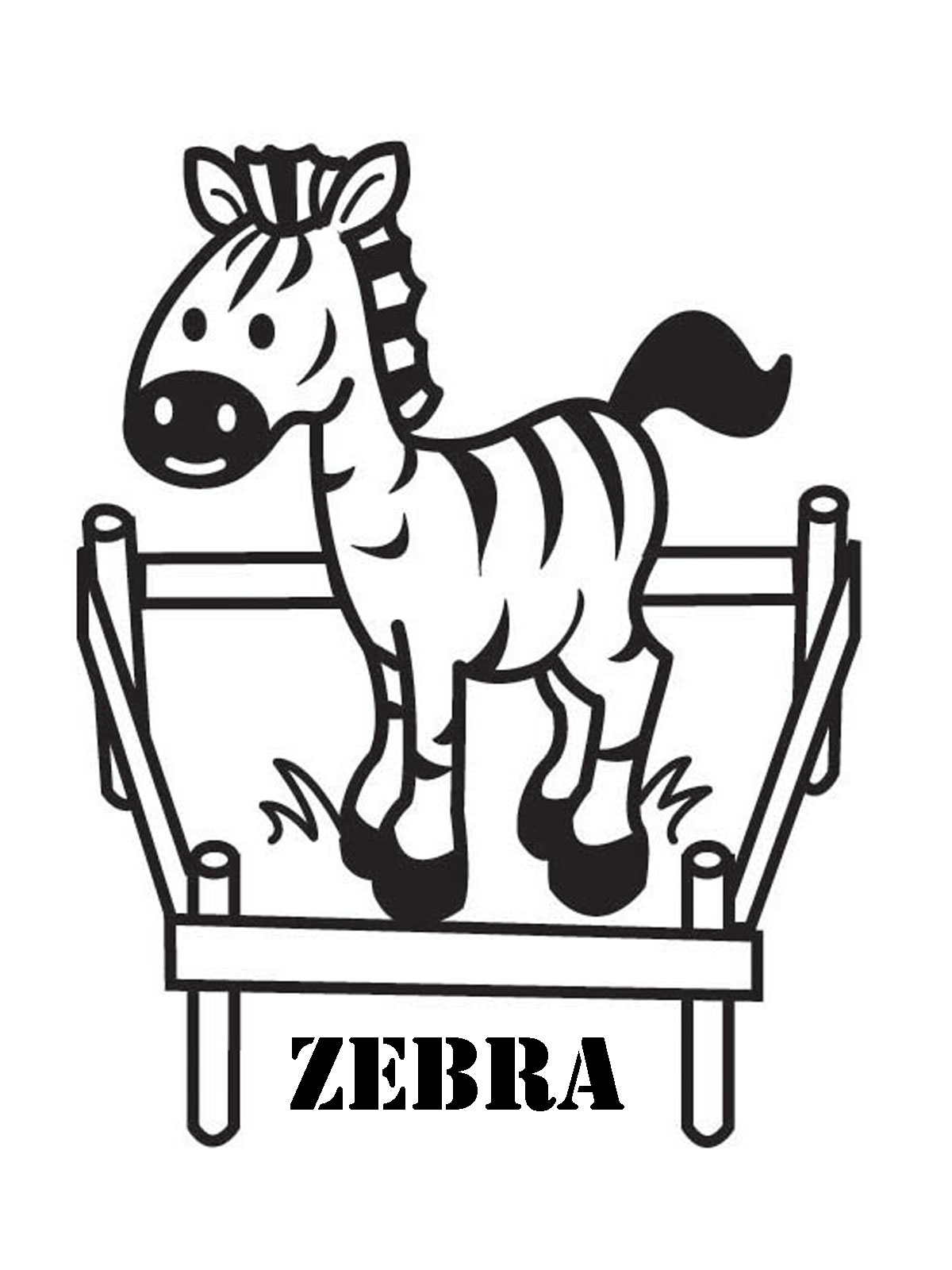 Realistic Zebra Coloring Pages Clipart Panda Free Clipart Images