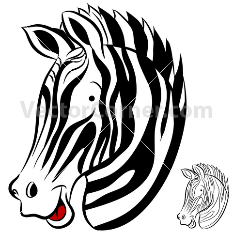 Zebra face cartoon - photo#9