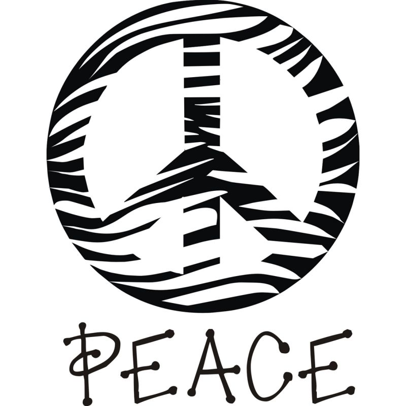 Zebra Peace Sign Clipart Clipart Panda Free Clipart Images