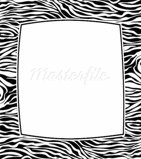 Zebra Frame Clip Art Z...