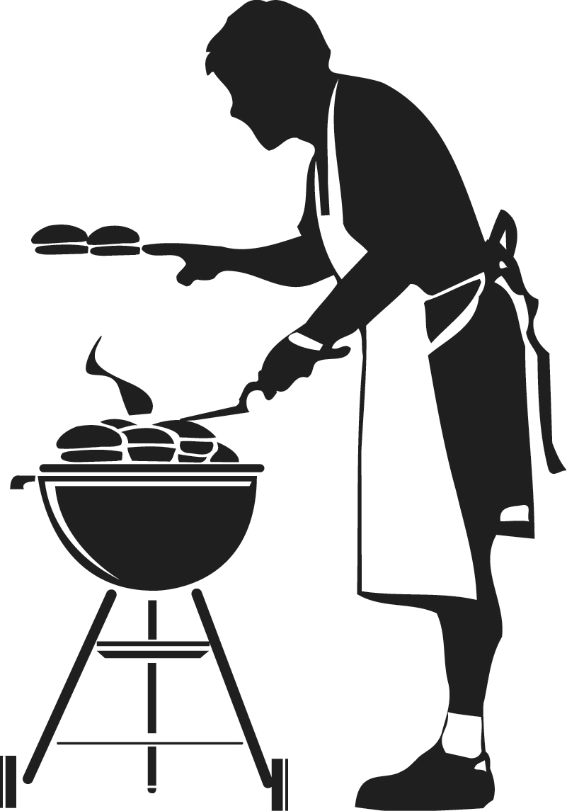 free clipart man grilling - photo #16